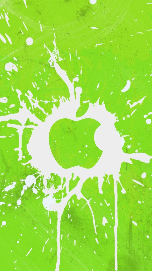 Wallpaper Apple Logo Green Iphone 5 Addons